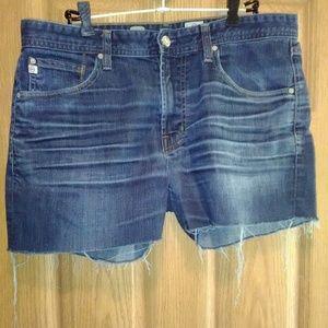 AG Stretch Cut Off Shorts W/Raw Hem Sz 36 EUC!